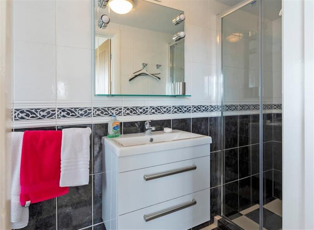 Shower room at The Cabin in Dartmouth, Devon