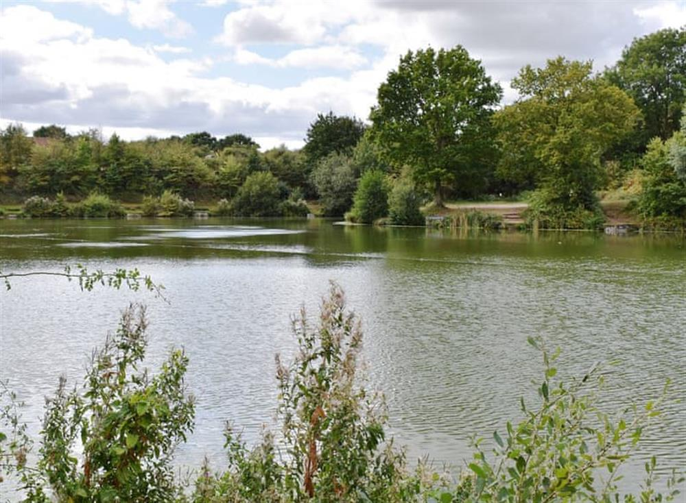 Lake at The Cartlodge in Weybread, near Harleston, Suffolk