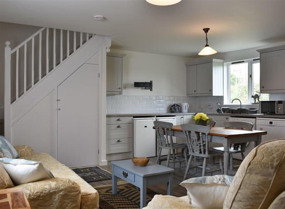 Open plan living space at The Cartlodge in Weybread, near Harleston, Suffolk