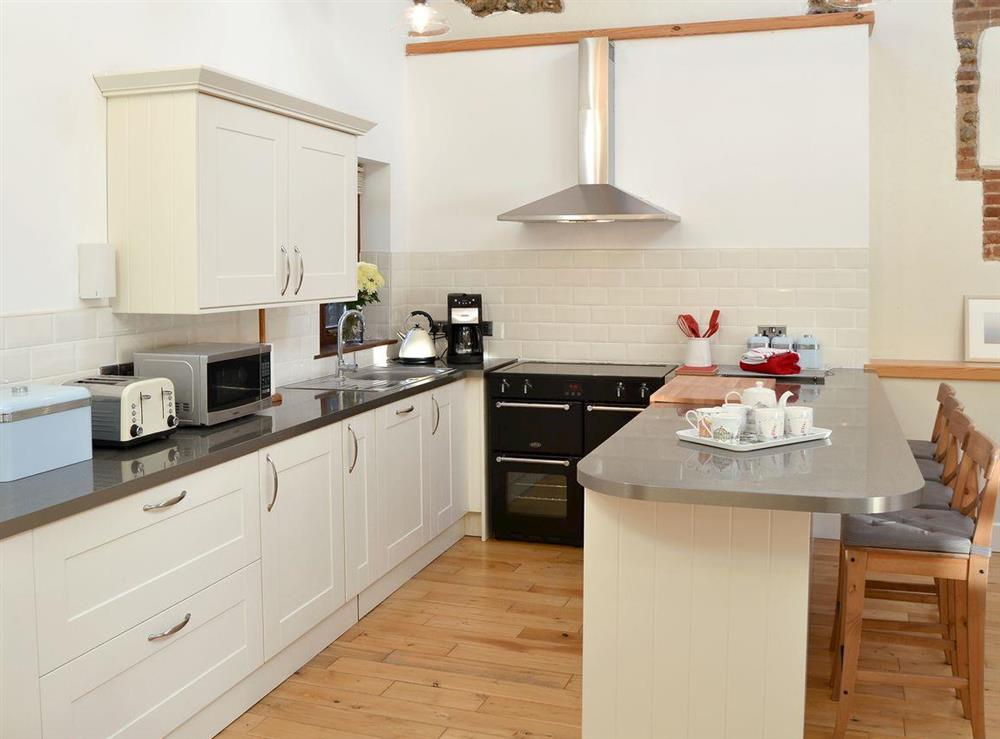 Excellent, well equipped kitchen area at The Cattle Sheds in Knapton, near North Walsham, Norfolk