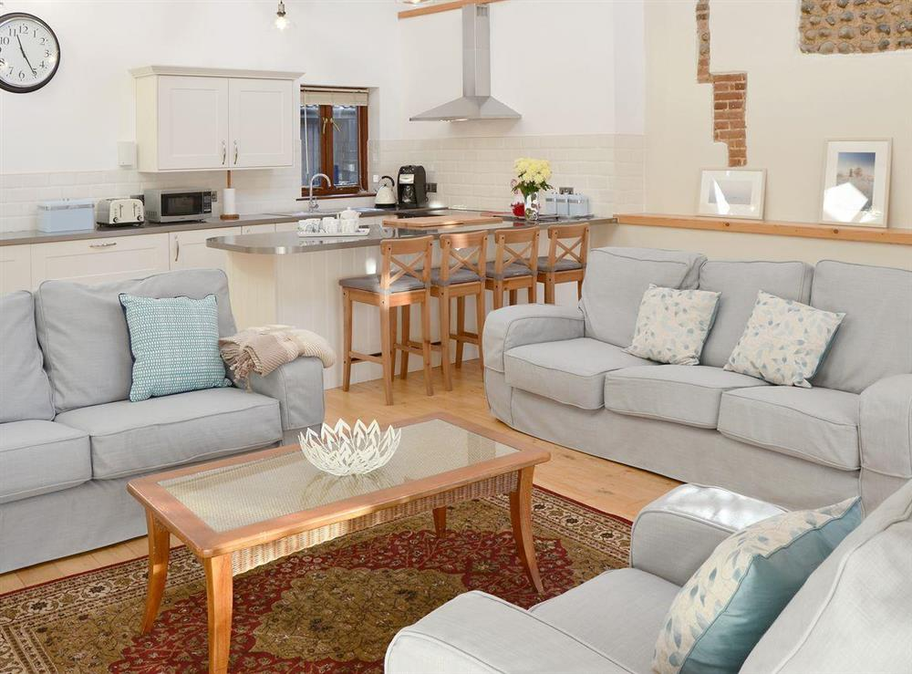 Well presented, spacious, open plan living space at The Cattle Sheds in Knapton, near North Walsham, Norfolk