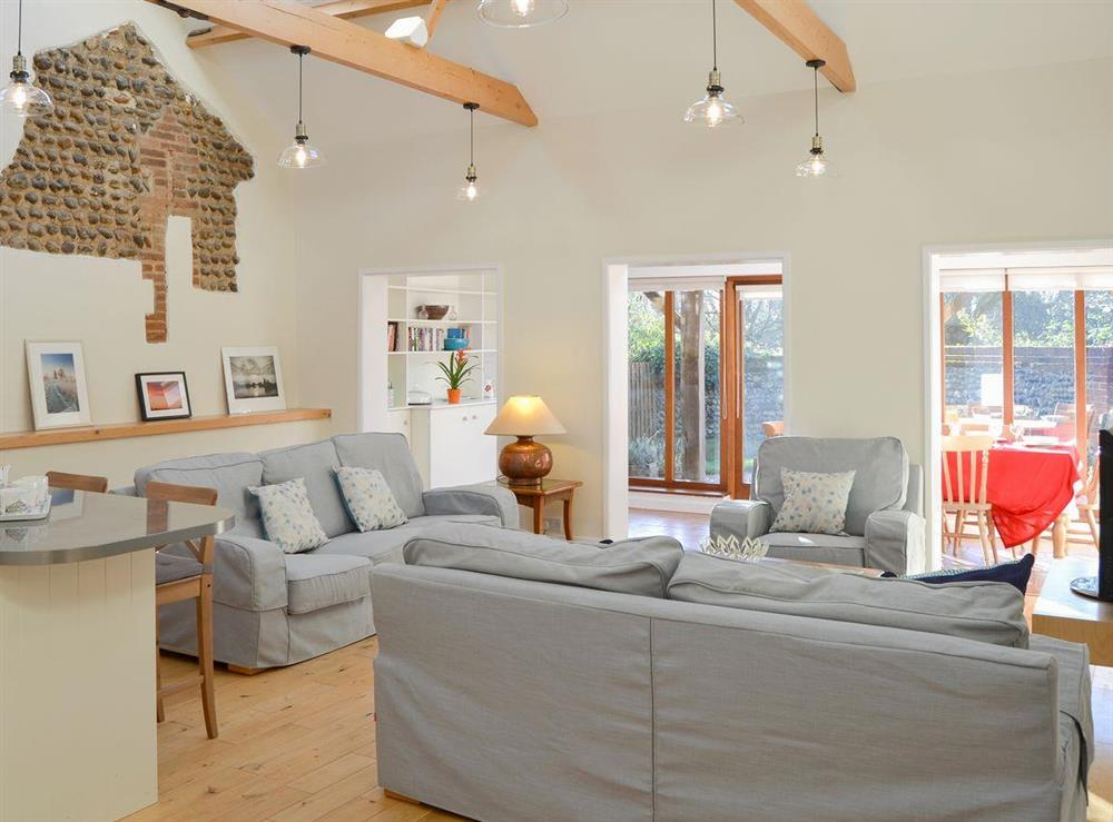 Wonderful open plan living space at The Cattle Sheds in Knapton, near North Walsham, Norfolk