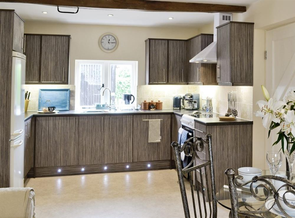 Open plan living/dining room/kitchen at The Cider House in Ledbury, Herefordshire