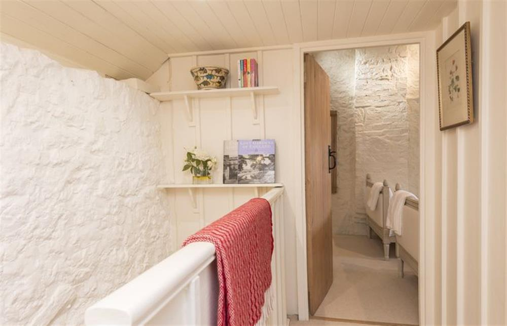First floor: Hallway leading to the twin room at The Cider Mill, Motcombe