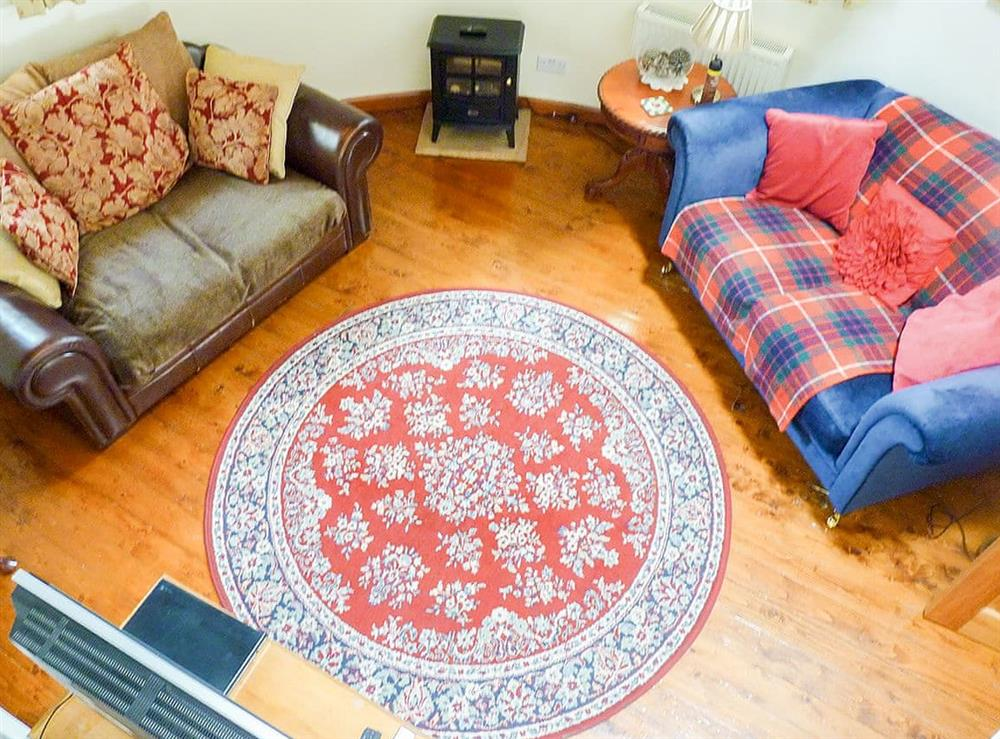 Living room at The Cider Tower in Cannee, near Kirkcudbright, Kirkcudbrightshire