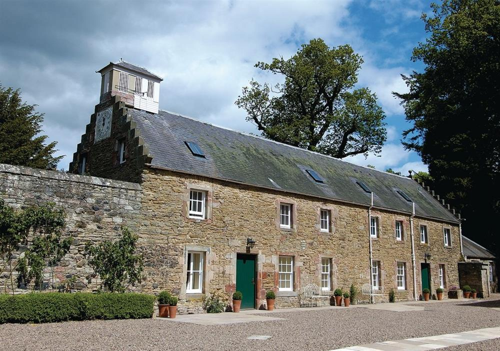 The Clock House (left) Courtyard Cottage (right) at The Clock House in Gordon, Berwickshire