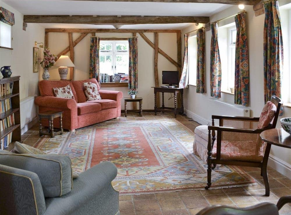 Living room at The Coach House in Aston Cantlow, Nr Stratford, Warks., West Midlands