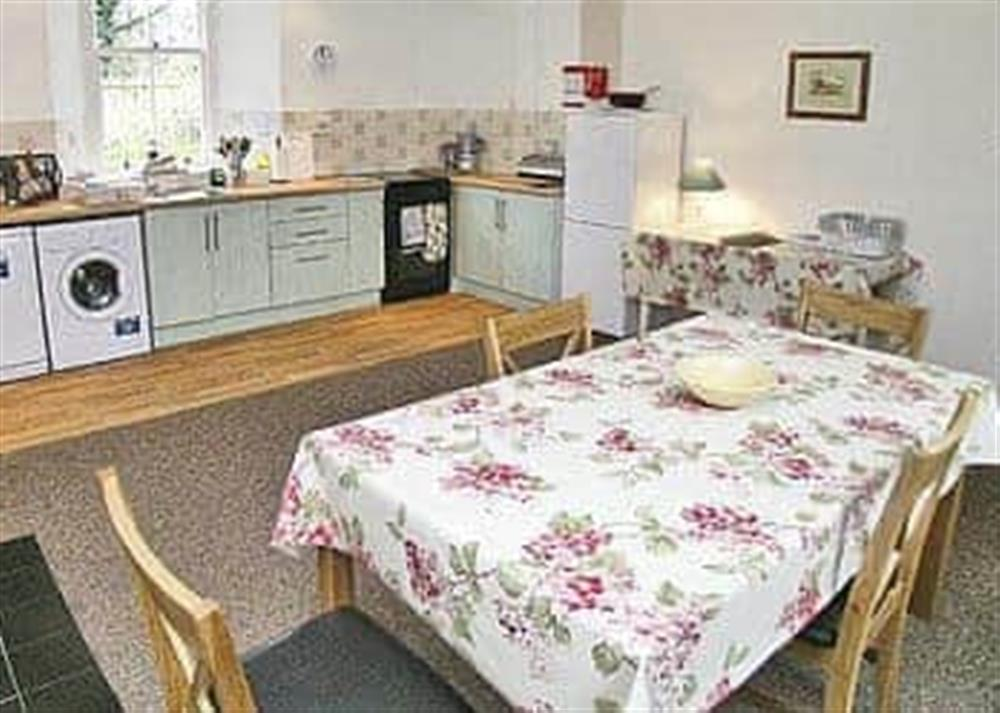 Kitchen/diner at The Coach House in Girvan, Ayrshire., Great Britain
