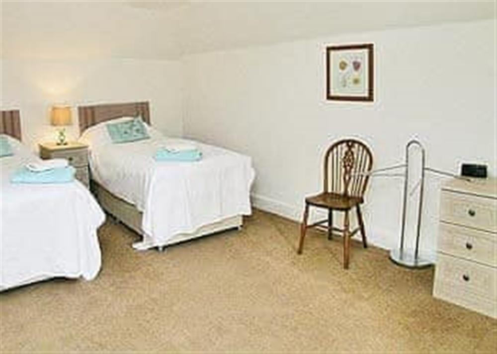 Twin bedroom at The Coach House in Girvan, Ayrshire., Great Britain