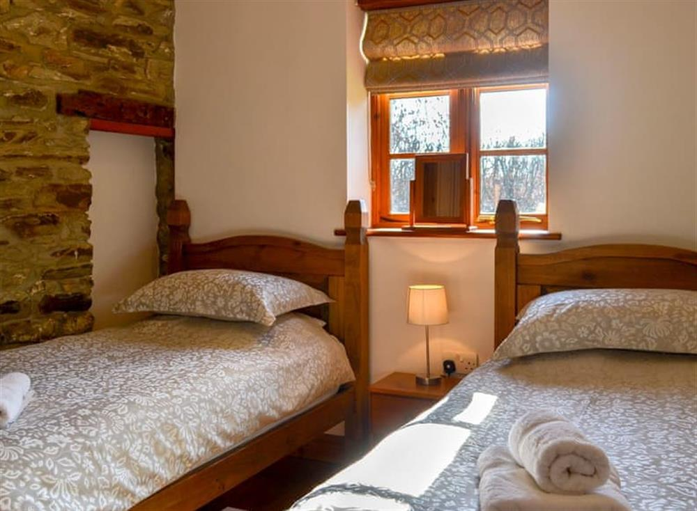 Twin bedroom at The Coach House in Gulworthy, near Tavistock, Devon