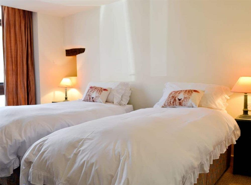 Twin bedroom at The Coach House in Llangoedmor, Nr Cardigan, Dyfed., Great Britain