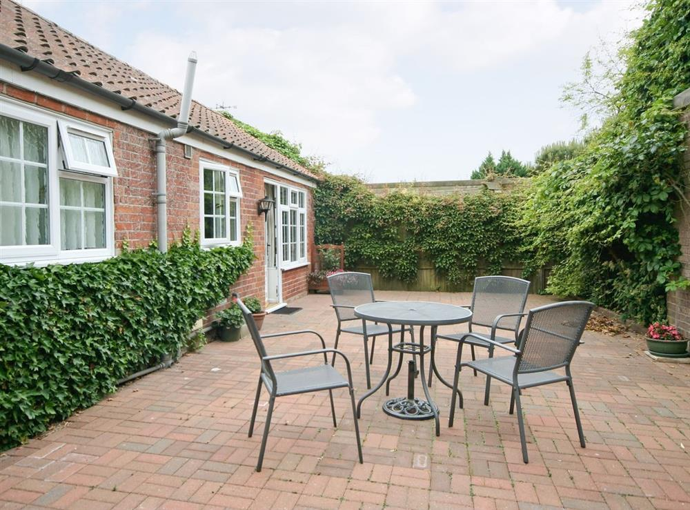 Sitting-out-area at The Coach House in Lowestoft, Suffolk