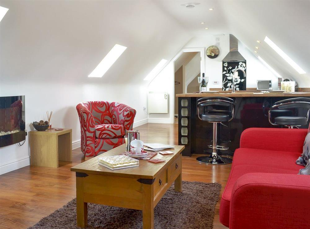 Charming, first floor apartment, open plan living space at The Coach House in Near Wroughton, Swindon, Wiltshire, England