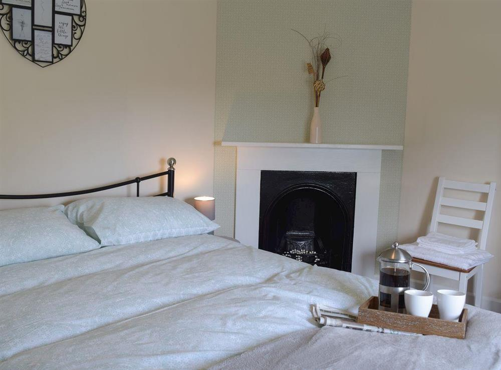 Double bedroom at The Coastal Cottage in Kessingland, Suffolk, England