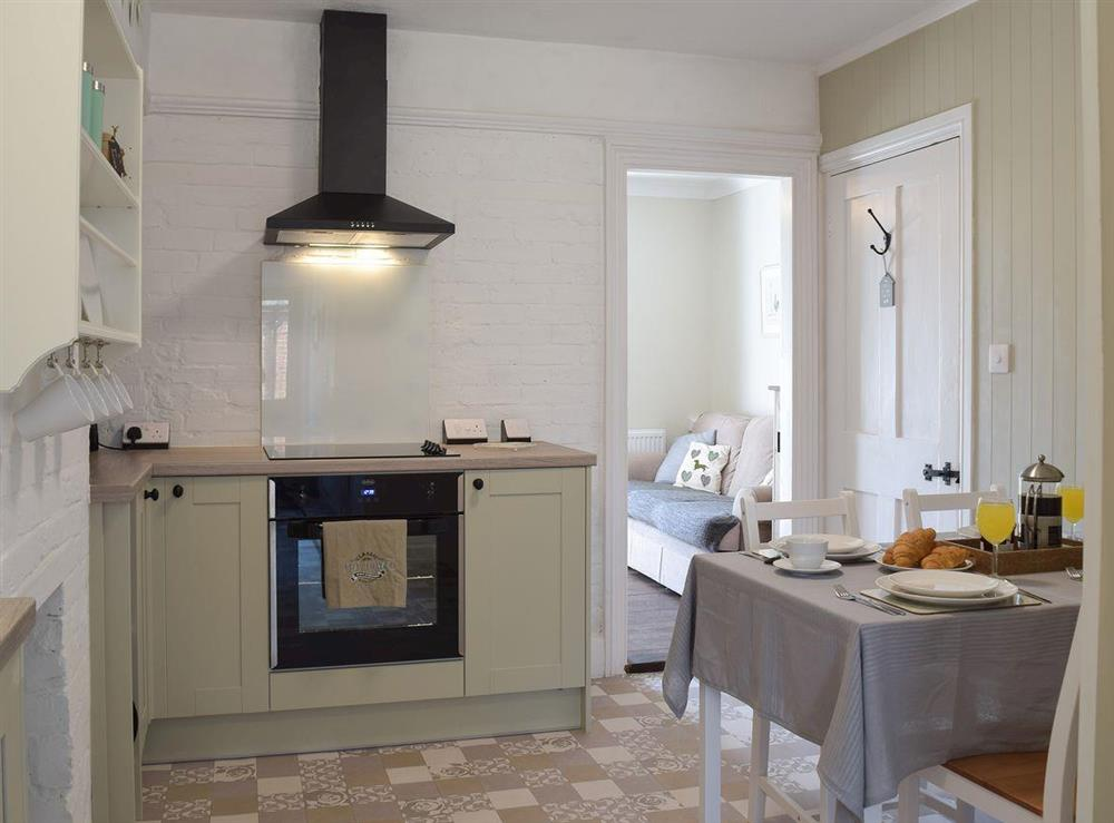 Kitchen & dining area at The Coastal Cottage in Kessingland, Suffolk, England