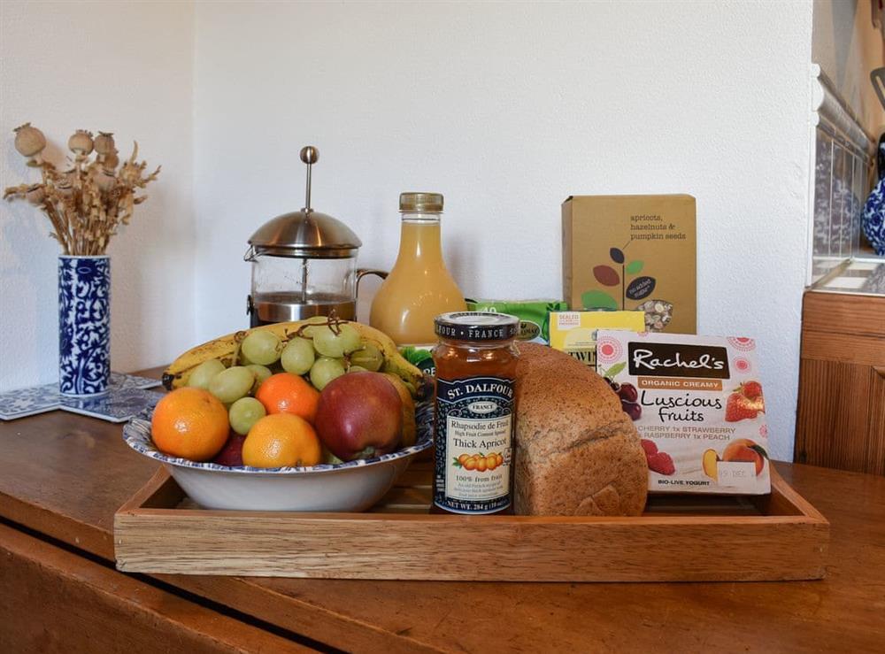 Generous welcome breakfast hamper