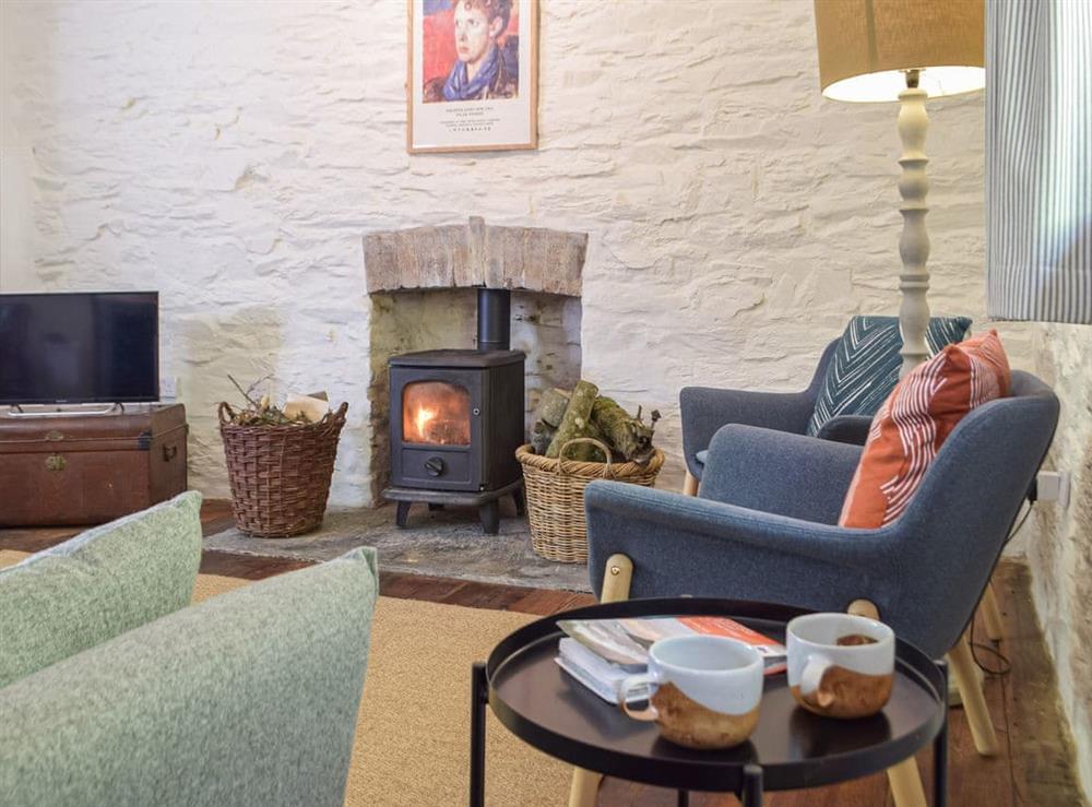 Living area at The Cottage at Noyadd Trefawr in Ponthirwaun, near Cardigan, Bedfordshire