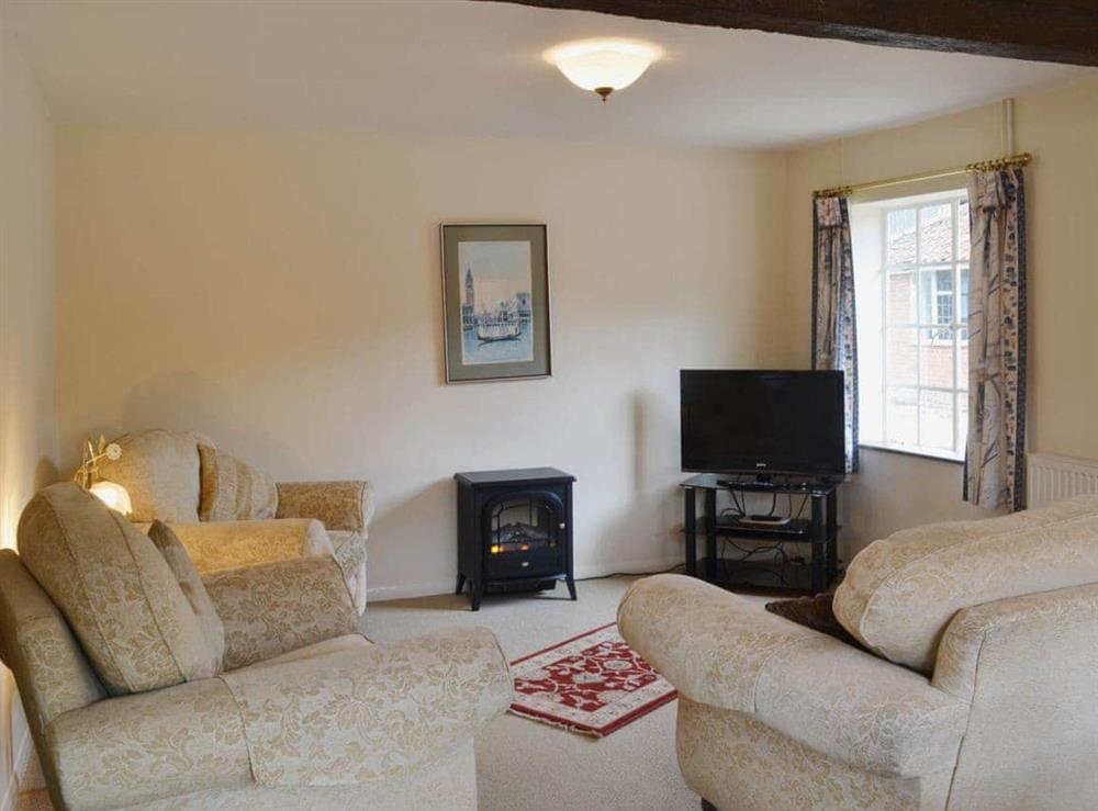 Living room at The Cottage in Fressingfield, Norfolk