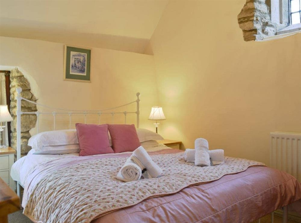 Cosy and romantic galleried bedroom at The Dovecote in Thrupp, Kidlington, Oxfordshire., Great Britain