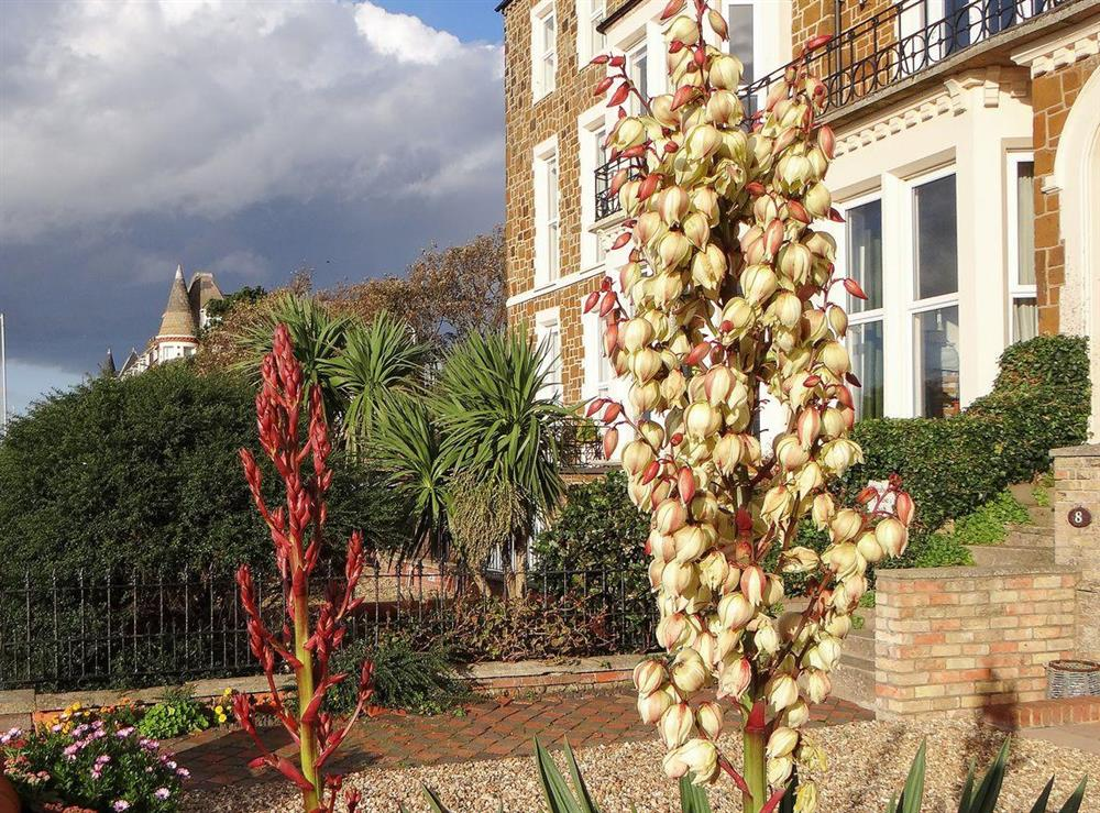 Overlooking the sea, this is a delightful East Anglian holiday home at The Garden Flat in Hunstanton, Norfolk