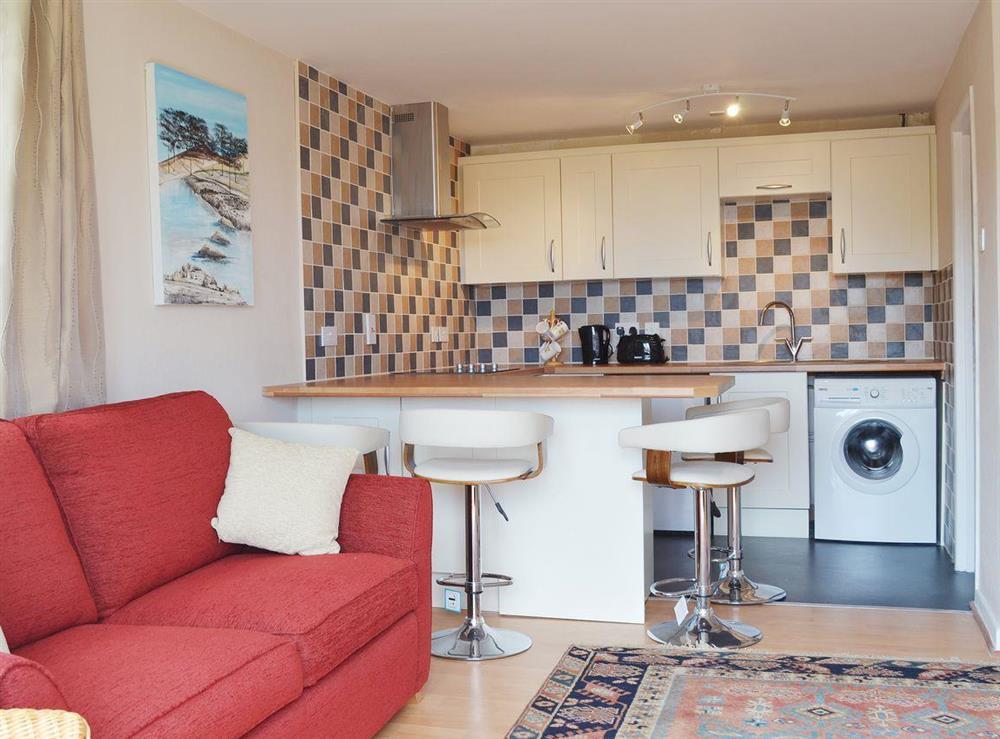 Living room & kitchen at The Garden Room in Brixham, Devon
