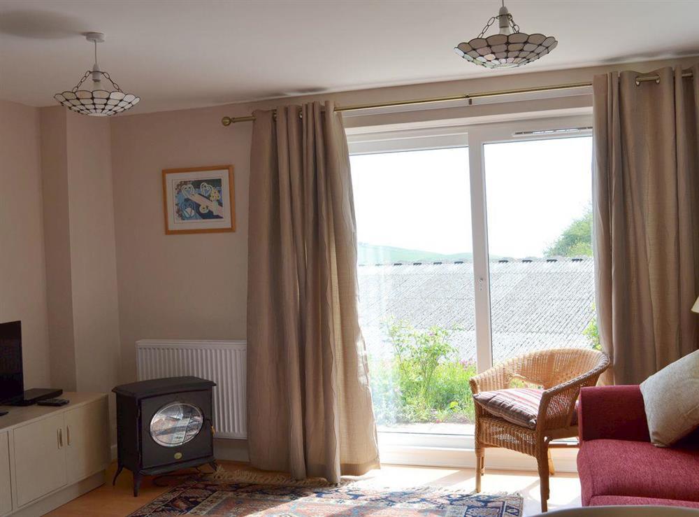 Living room at The Garden Room in Brixham, Devon