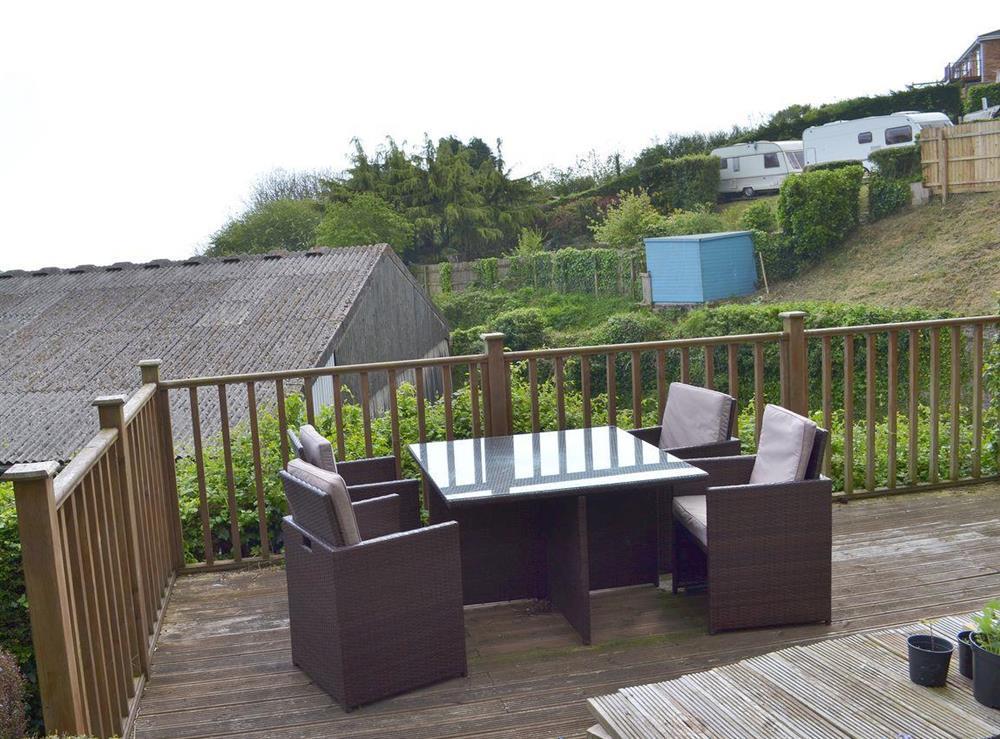 Sitting out area at The Garden Room in Brixham, Devon