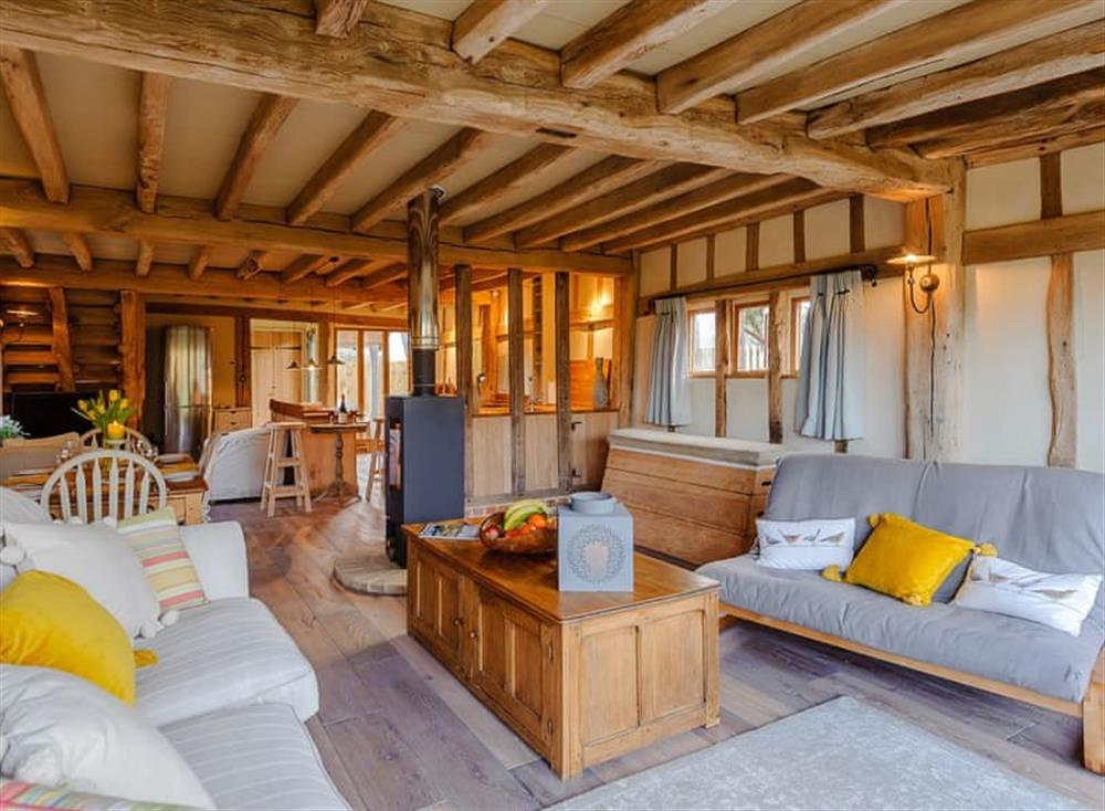 Living area at The Granary in Milden, near Bury St Edmunds, England