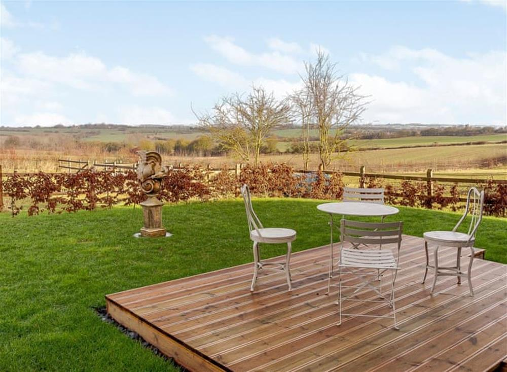 Patio at The Granary in Milden, near Bury St Edmunds, England