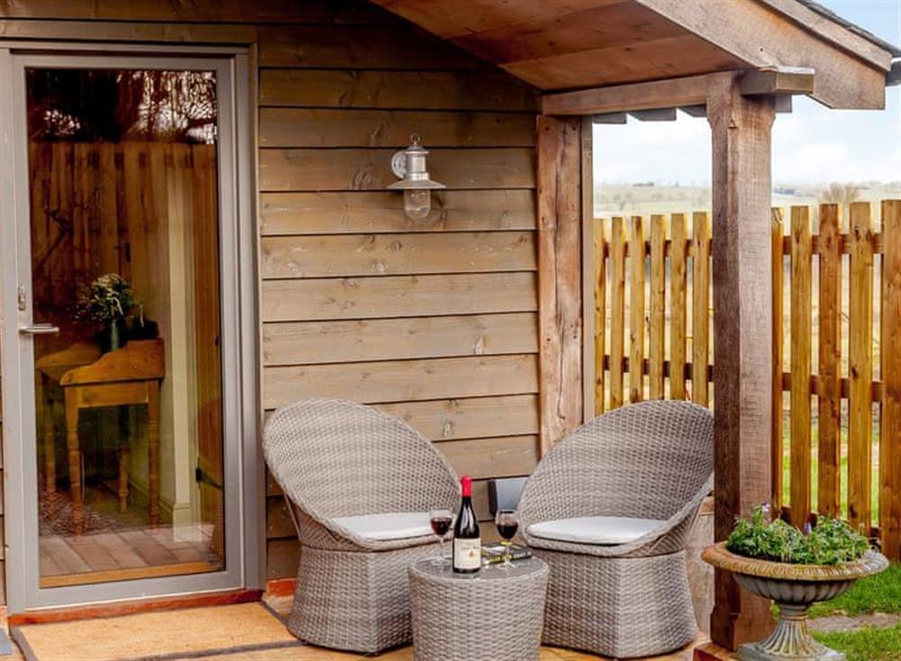 Sitting-out-area at The Granary in Milden, near Bury St Edmunds, England