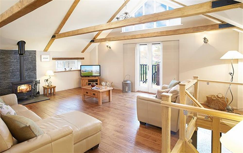 First floor: Open plan kitchen, dining and sitting room at The Granary (Suffolk), Sibton Green