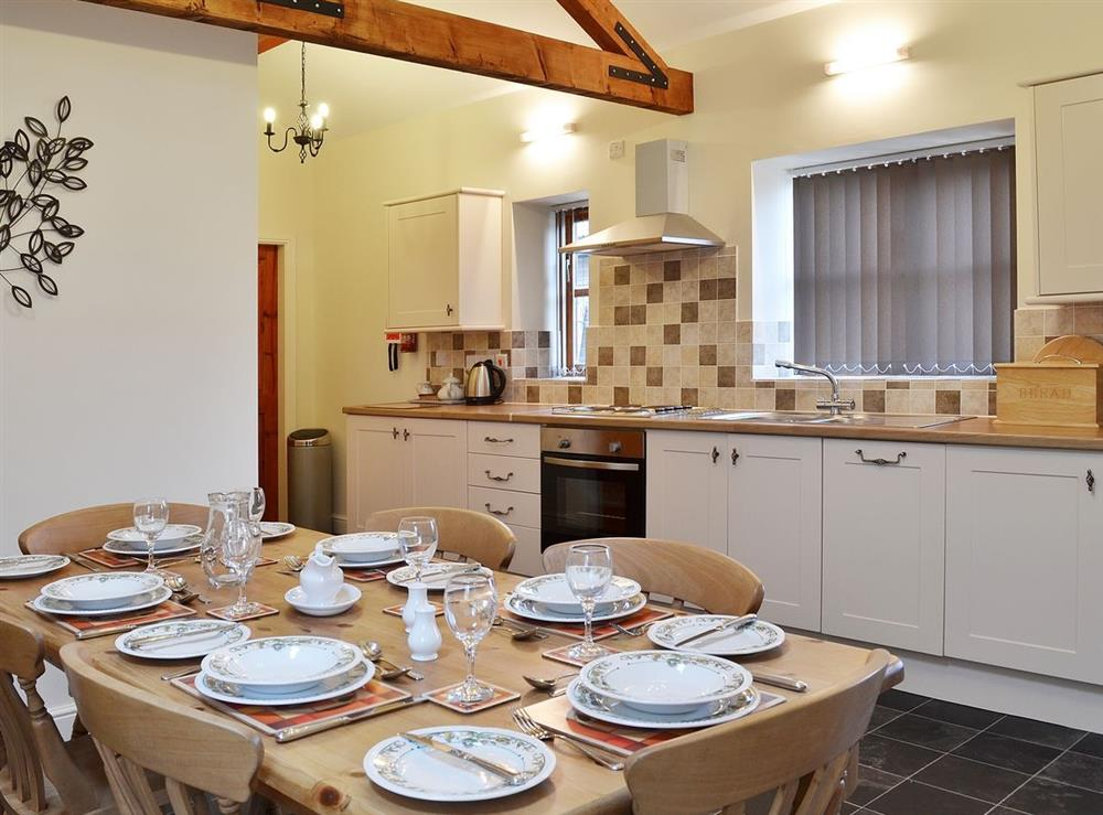 Open plan living/dining room/kitchen at Puffin Cottage,