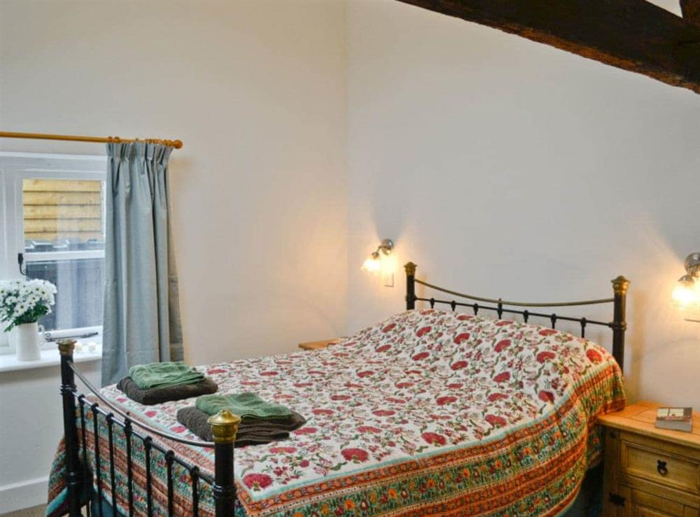 Double bedroom at The Grooms Cottage in Ashperton, near Ledbury, Herefordshire
