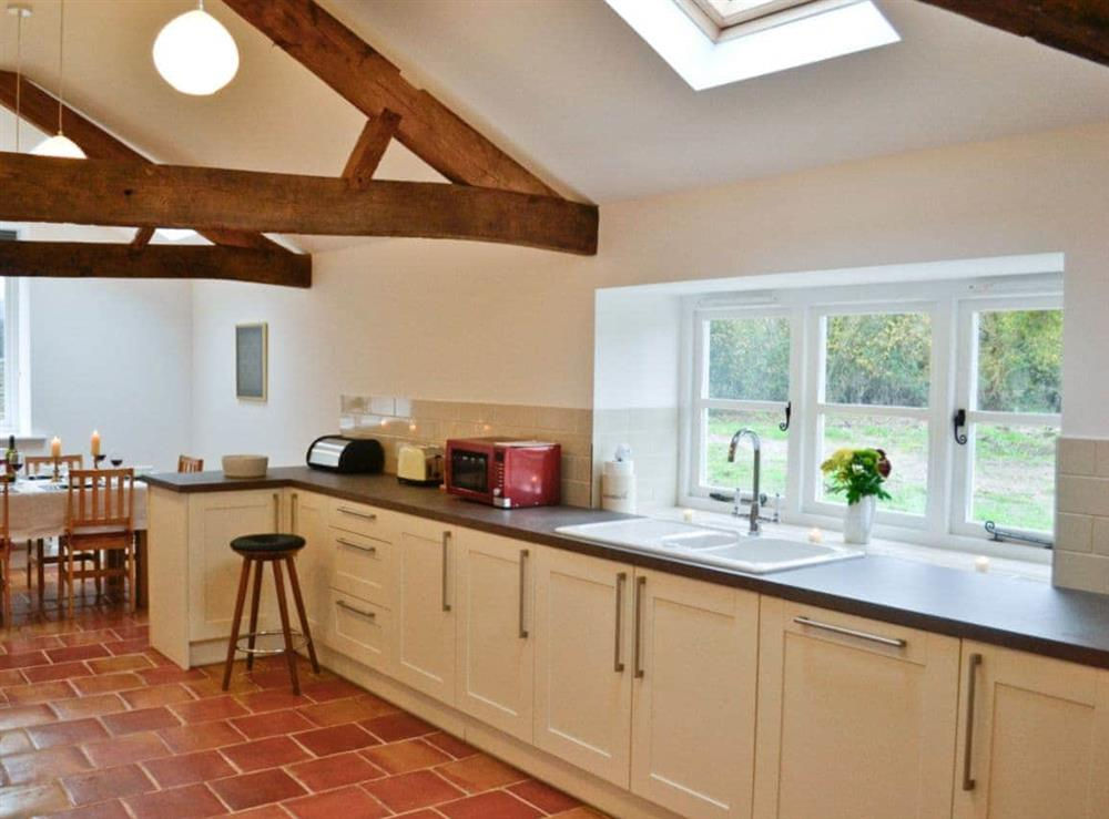 Kitchen at The Grooms Cottage in Ashperton, near Ledbury, Herefordshire