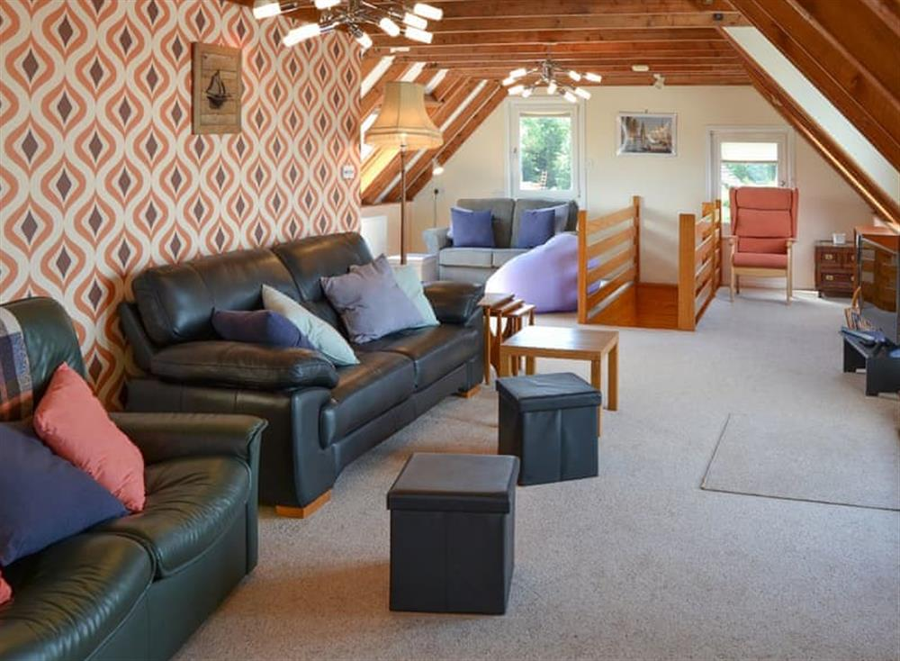 Living room at The Haven in Hoveton, near Wroxham, Norfolk