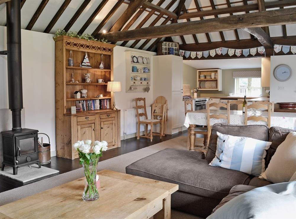 Open plan living/dining room/kitchen at The Haybarn in Fakenham, near Sculthorpe, Norfolk