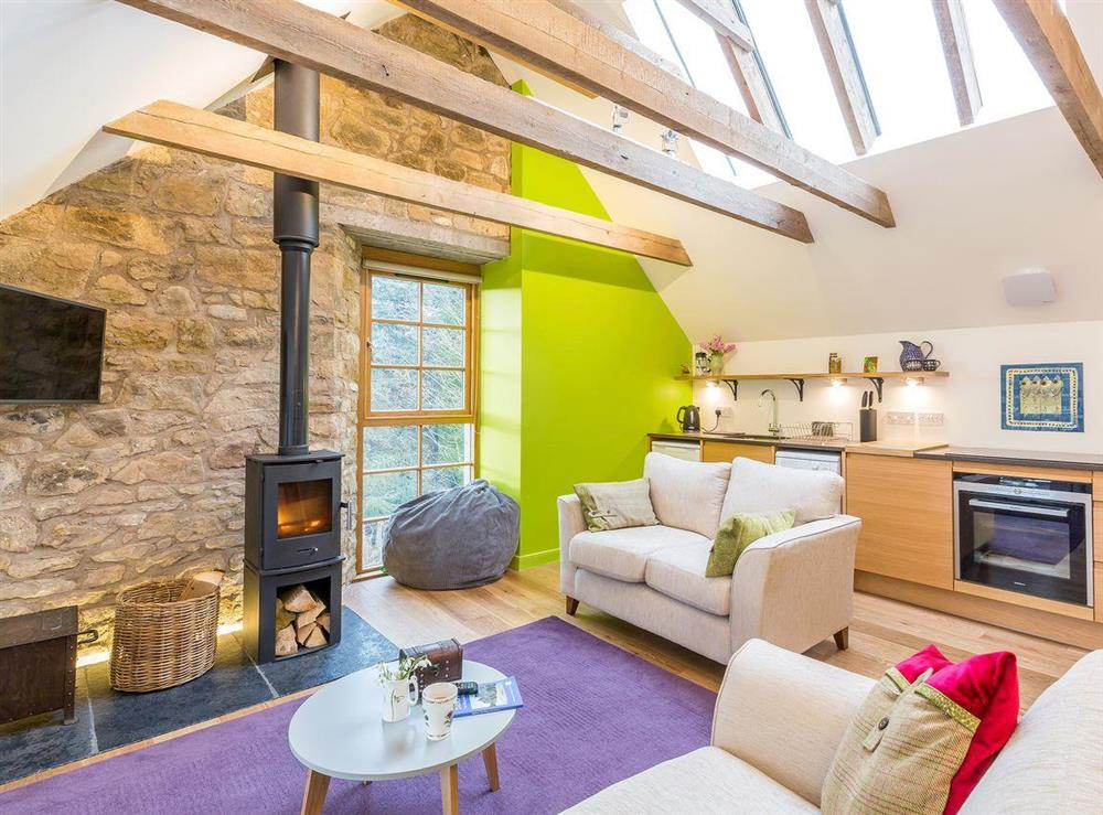Fabulous open plan living space at The Hayloft in Balerno, near Edinburgh, Midlothian