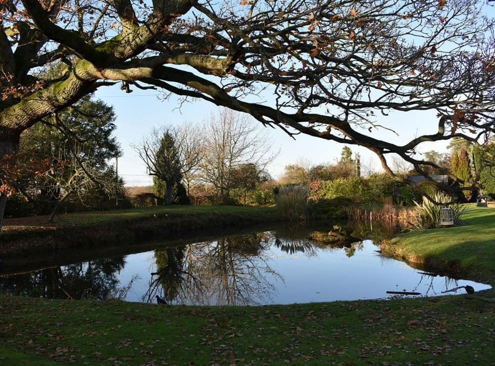 Calm and peaceful shared grounds at The Hayloft in Wineham, near Henfield, Dorset