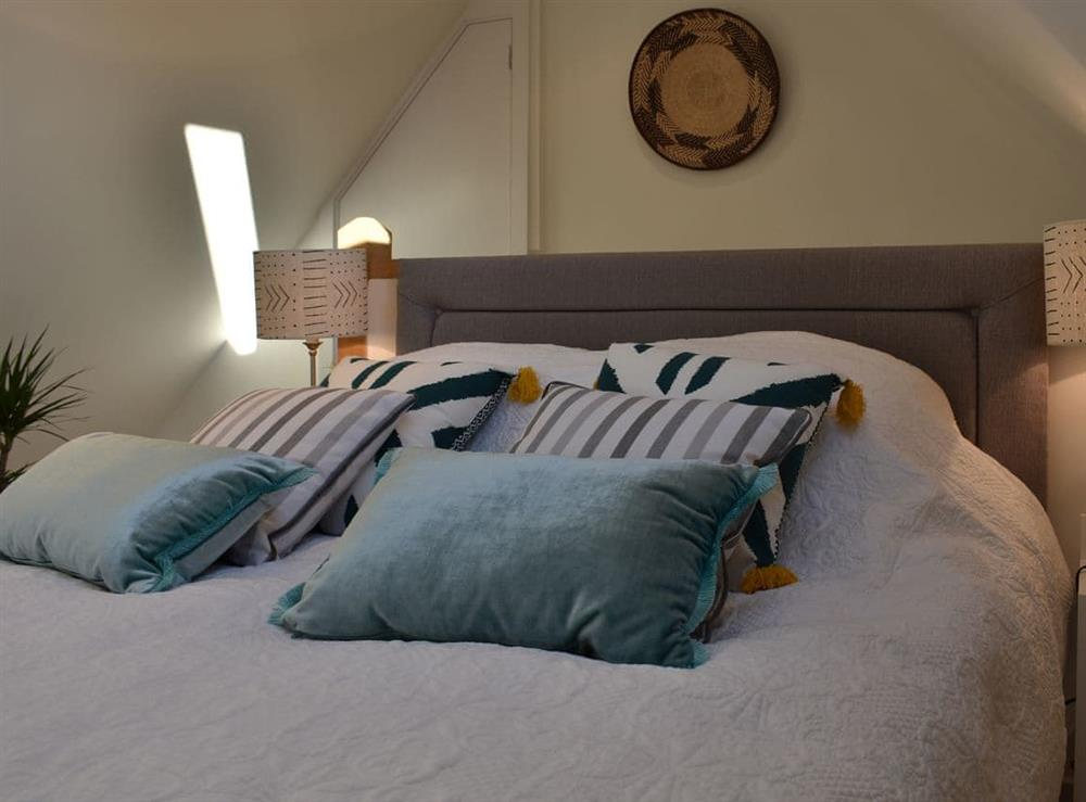Comfortable and relaxing bed at The Hayloft in Wineham, near Henfield, Dorset