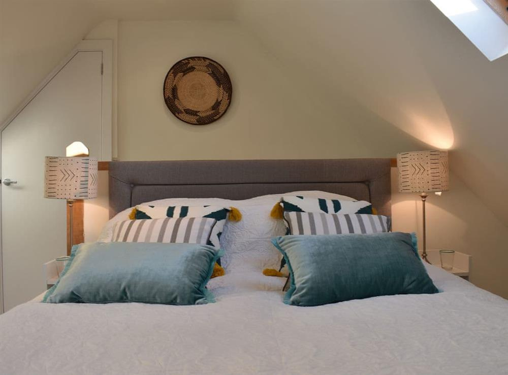 Cosy and calming sleeping space at The Hayloft in Wineham, near Henfield, Dorset