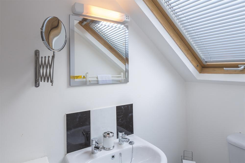En suite shower room at The Hideaway in , Dartmouth