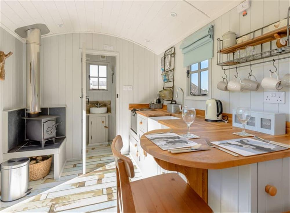 Stylish living area at The Hut at Hole Farm in Alderbury,  Salisbury, England