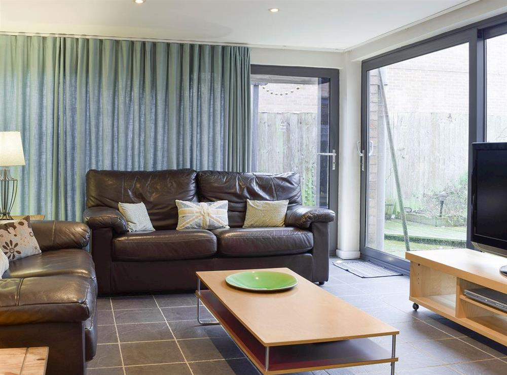 Light and airy living area at The Joinery in Ledbury, Herefordshire