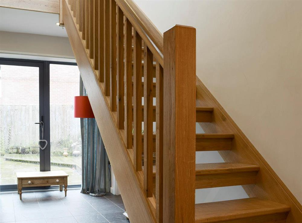 Open tread stairs to first floor at The Joinery in Ledbury, Herefordshire