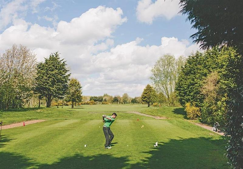 Golf course at The Manor Resort Pods in Laceby, Lincolnshire