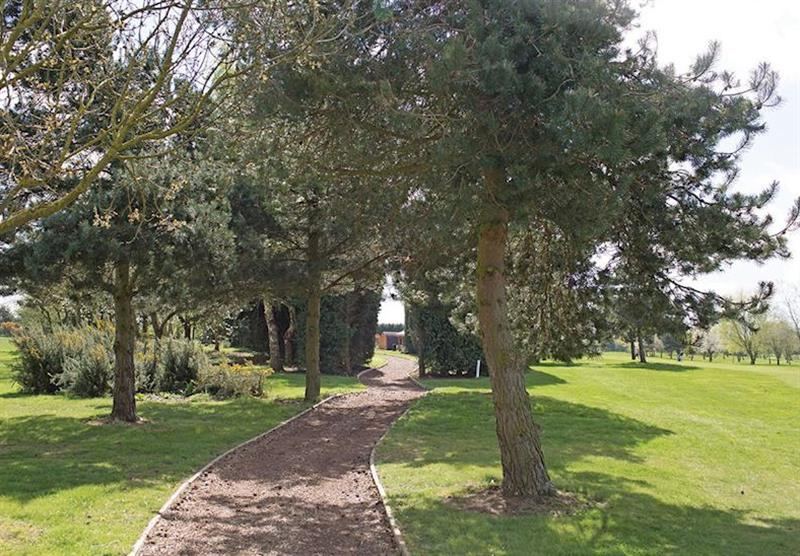 The park setting (photo number 3) at The Manor Resort Pods in Laceby, Lincolnshire