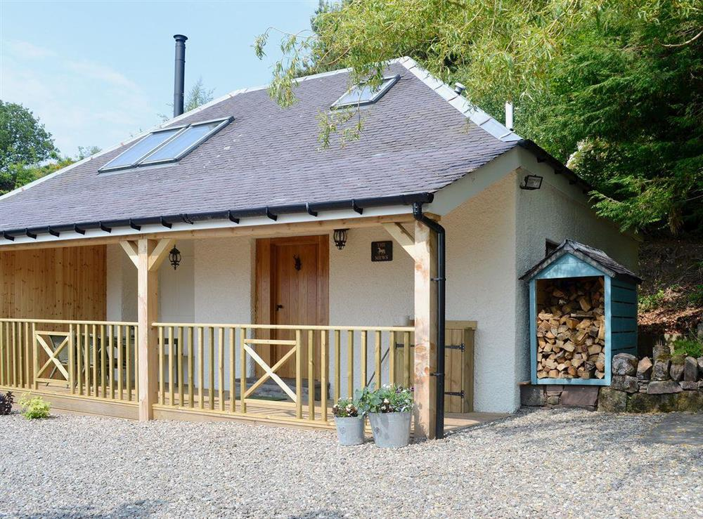 Cosy semi-detached cottage with far-reaching views towards Loch Lomond at The Mews in Port Of Menteith, Stirlingshire