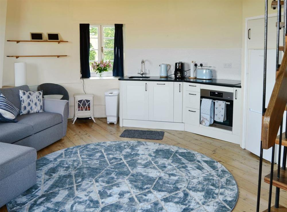 Open plan living space at The Mill @ The Mill House in How Hill, near Ludham, Norfolk