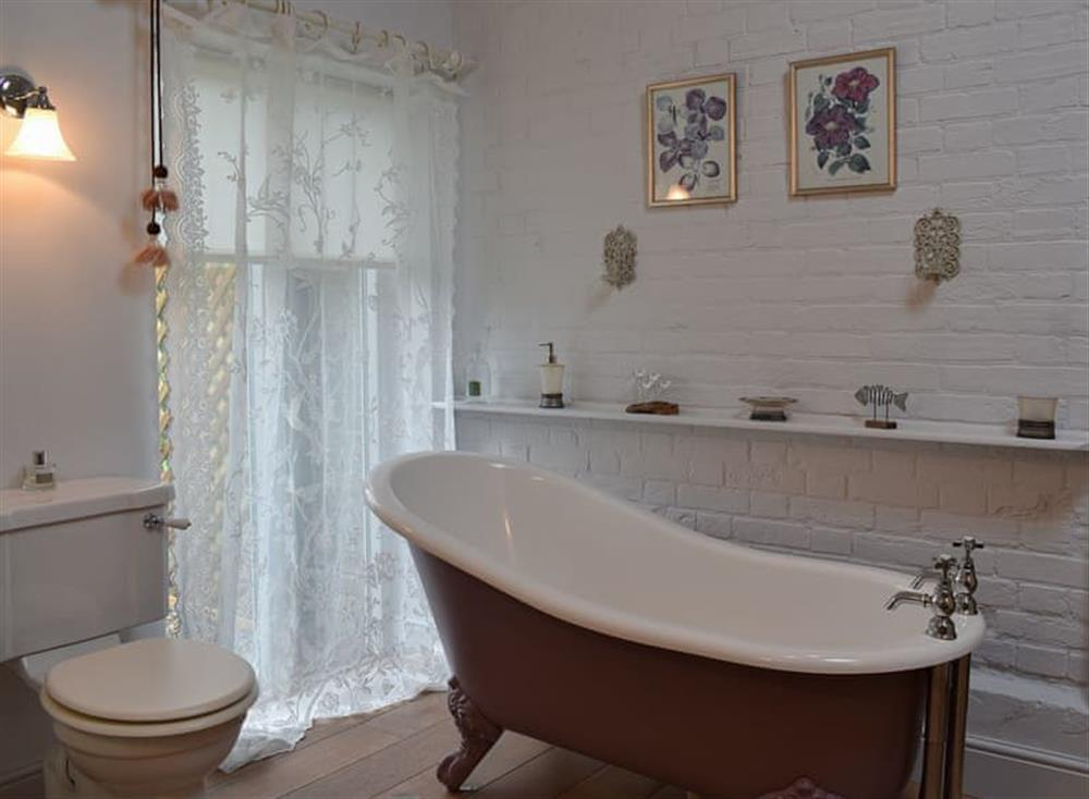 Bathroom with stand-alone bath at The Nest in Near Diss, Norfolk