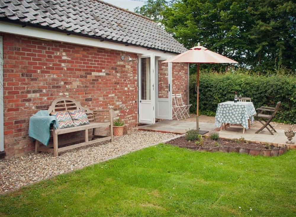 Garden area at The Nest in Near Diss, Norfolk